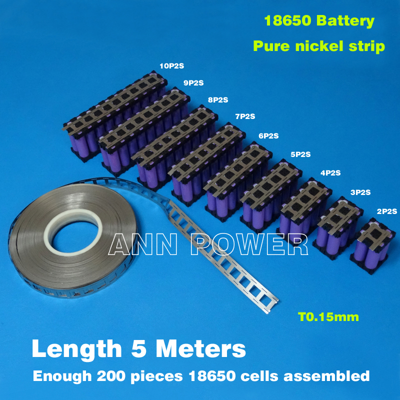 18650 Cylindrical Batteries Nickel Belt 18650 Cell Nickel Strip Lithium Battery Pure Nickel Tape Used For 18650 Battery Holder