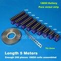 18650 cinto de níquel baterias Cilíndricas 18650 células de níquel tira fita Utilizada para 18650 suporte da bateria bateria de lítio de níquel puro