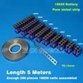 18650 cinturón de níquel Cilíndrica 18650 células de níquel tira de cinta Utilizada para 18650 soporte de la batería batería de litio de níquel puro