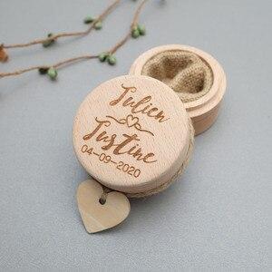 خاتم الزواج مربع ، مخصص الزفاف خاتم حاملها مربع ، محفورة خشبية حلقة حامل ، اقتراح خاتم الزواج وسادة