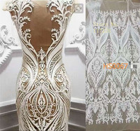 Top Quality French Lace Fabric Latest White African Lace Fabric With Embroidery Mesh Tulle Fabric
