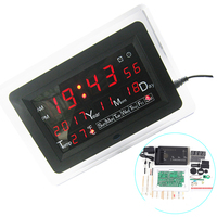 ECL 1227 0 5 Inch Red Green Blue Electronic Clock DIY Kit Electronic Calendar Temperature English
