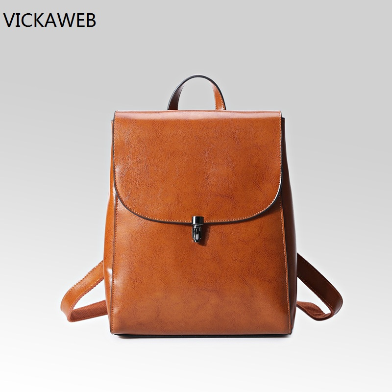 famous brand women backpack girls shoulder bags design genuine leather bag small casual daypacks fashion women leather bacpacks hot sale women s backpack the oil wax of cowhide leather backpack women casual gentlewoman small bags genuine leather school bag
