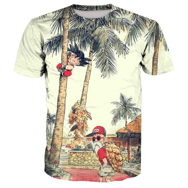 Dragon Ball Z T shirts Son Goku Men Summer T-shirt Super Saiyan Child Gokou Master Roshi Short Sleeve Tops Tees Plus Size