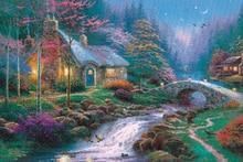 Forest Villa Fluorescent paper puzzle 1000 pieces Noctilucent jigsaw puzzles 1000 for adults kids jigsaw puzzle