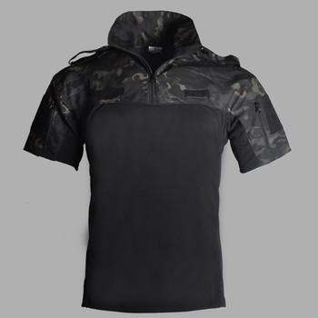 Lato z krótkim rękawem mundur wojskowy topy entuzjasta militariów taktyczna kamuflażowa odzież Outdoor CS trening odzież myśliwska koszula tanie i dobre opinie PAVEHAWK COTTON Poliester Pościel ZK-742 Camping i piesze wycieczki Pasuje prawda na wymiar weź swój normalny rozmiar