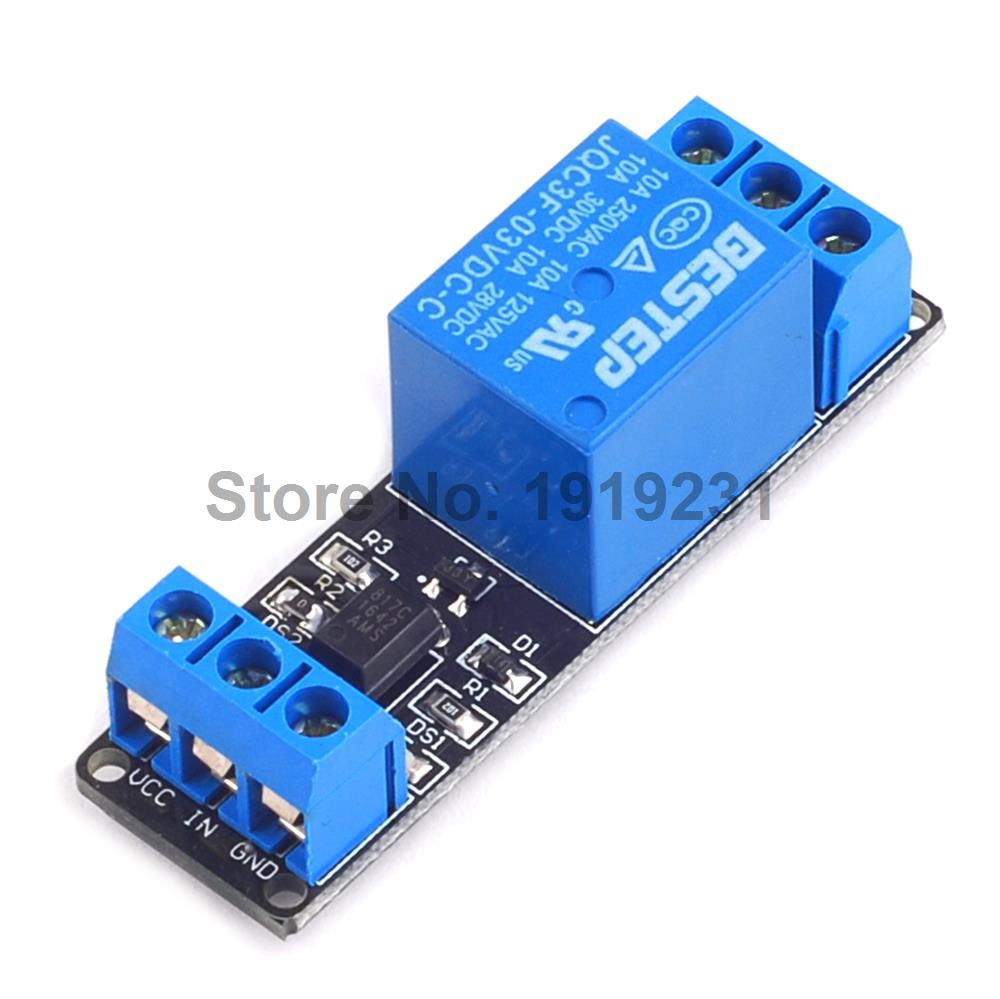 1PCS 3.3V 1 Channel 3V Relay Module Optocoupler Isolation Low Level Trigger Relay Module стоимость