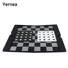 High Quality Classic Plastic Buttons Magnetic Chess Folding Chessboard Travel PVC Mini Thin Portable