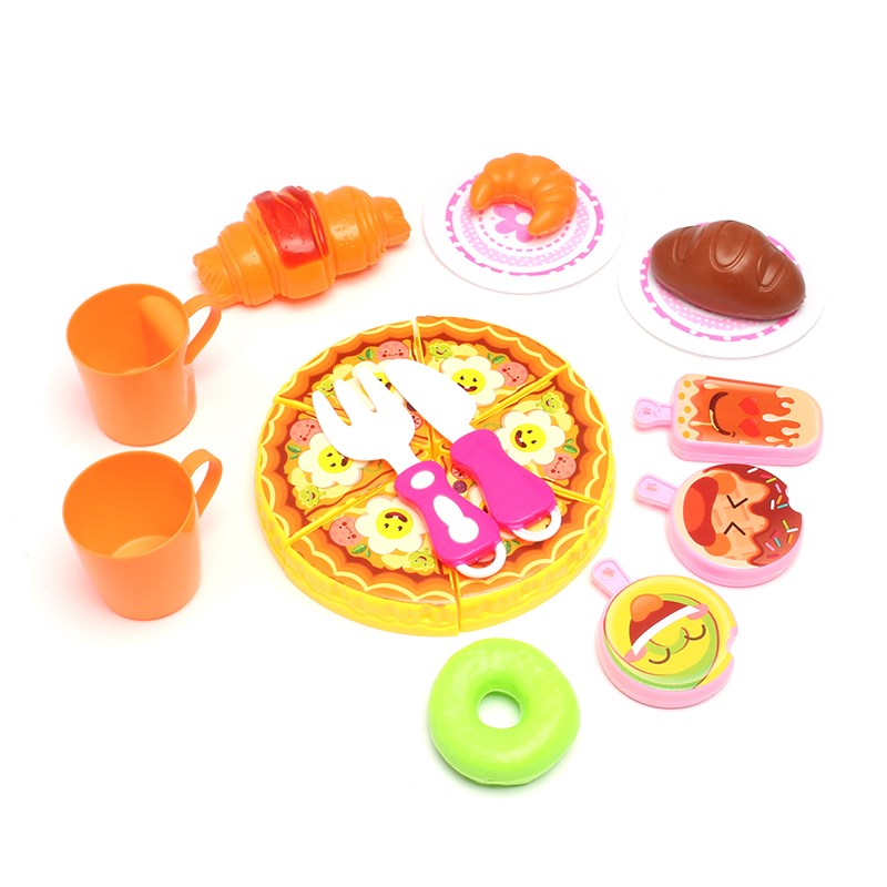 Sweet Children Kitchen Toys Girls Food Pizza Bread Ice Cream Dishes Cookware Role Pretend Playing Kitchen Playset toys Gift
