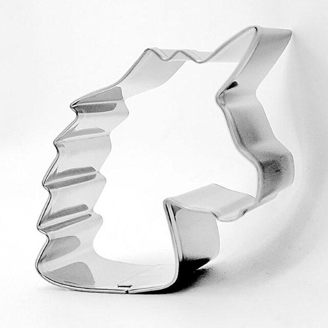 Единорог голова печенья резак из нержавеющей стали Форма для вырезания форма для печенья Форма для бисквитов 2019