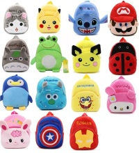 2017 New Fashion Kids Cartoon plush bags child Backpack schoolbag little baby mini cute bags