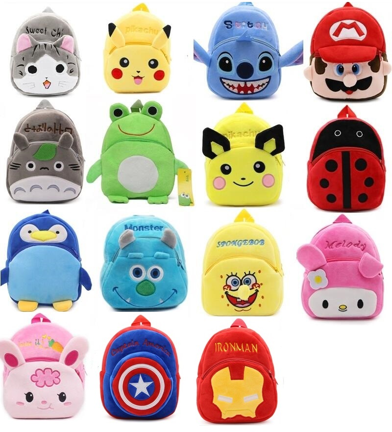 2017 New Fashion Kids Cartoon plush bags child Backpack schoolbag little baby mini cute  ...