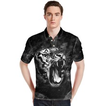 FORUDESIGNS Wholesale Animal Print Tops Tees Men Polo shirts Casual Horse Shirts Short-Sleeve loose Fit Shirt S M L XL XXL XXXL