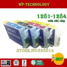 Empty Refill cartridge suit for T1281 T1282 T1283 T1284 suit for Epson S22 SX125 SX130 SX230