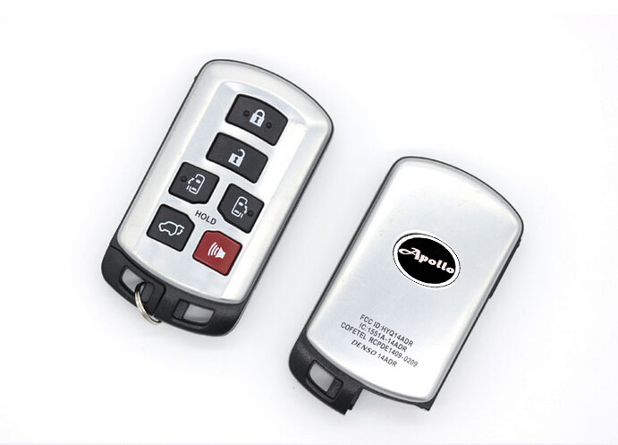 6 Button Smart Remote Key Shell Case For Toyota Sienna With Insert Emergency Blade Car Alarm Housing Keyless Entry Fob Key Cover brand new high quality remote key keyless alarm 2 button for renault laguna smart card with insert small key blade 434mhz