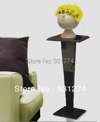 Black Acrylic  Lucite  Pedestal  Table,Plexiglass Living  Room Sculpture, Perspex  Flower  Vase  Stand