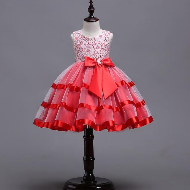 ילדה פרחוני נסיכת מסיבת שמלת בנות שמלת קיץ ילדים בגדי חתונה יום הולדת תינוק שמלת טוטו 3-12 Y תינוק ילדה בגדים