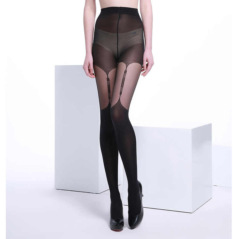 ba5fa10e6 Detail Feedback Questions about 40 Denier Ultra Sheer Summer Black Fashion  and Sexy Woman Patchwork Jacquard Core spun Silk Black Pantyhose Tights  Stocking ...