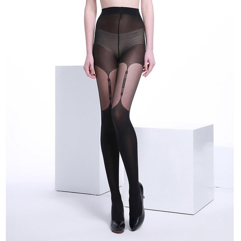 20 Denier Ultra Sheer Summer Black Fashional and Sexy Woman Patchwork Jacquard Core-spun Silk Black Pantyhose Tights Stocking