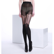 20 Denier Ultra Sheer Summer Black Fashional and Sexy Woman Patchwork Jacquard Core-spun Silk Black Pantyhose Tights Stocking
