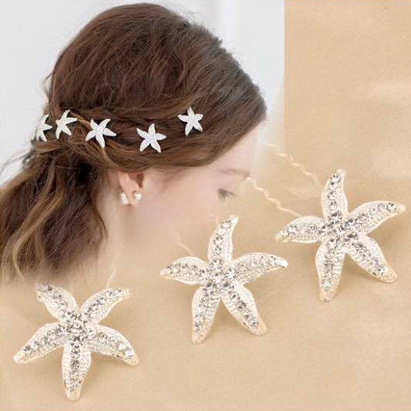 MISM 10pcs/set Women Flowers Hairpin Pearl Stick Wedding Bridal Crystal Rhinestone Hair Clips Hair styling Accessories Barrettes