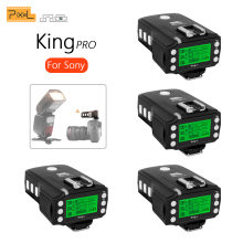 PIXEL KING PRO For Sony A7 A7R A7RII A6300 A65 A77II RX10III MI Shoe Camera TTL HSS 1/8000S LCD Flash Trigger Transceivers x4pcs