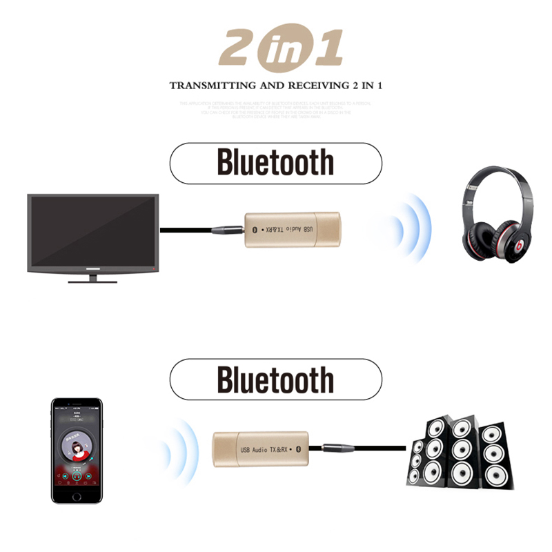 Funkadapter Geschickt Kebidu 2 In 1 Usb Wireless Bluetooth Sender Empfänger Audio Stereo Bluetooth Transmiter Adapter Aux 3,5mm Für Tv Pc Lautsprecher