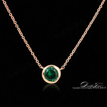 Double Fair Simple Style Cubic Zirconia Necklaces &Pendants Rose Gold Color Fashion Jewelry For Women Chain Accessiories DFN454