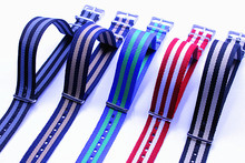 Hot sale ! 10PCS/lots High quality 20MM NATO straps waterproof nylon watch strap 5 color available  - 72302