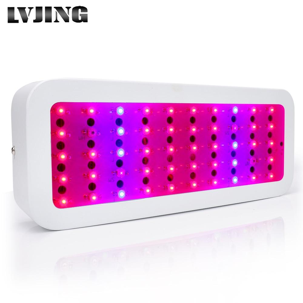 Мини пълен спектър LED 300W светодиодна светлина за растеж с 50LEDs червено синя UV инфрачервена лампа за отглеждане на растения за закрити цветя зеленчуци хидропони