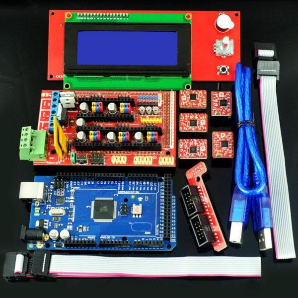 3D Printer kit 1PCS Mega 2560 R3 + 1pcs RAMPS 1.4 Controller + 5PCS A4988 Stepper Driver Module /RAMPS 1.4 2004 LCD control