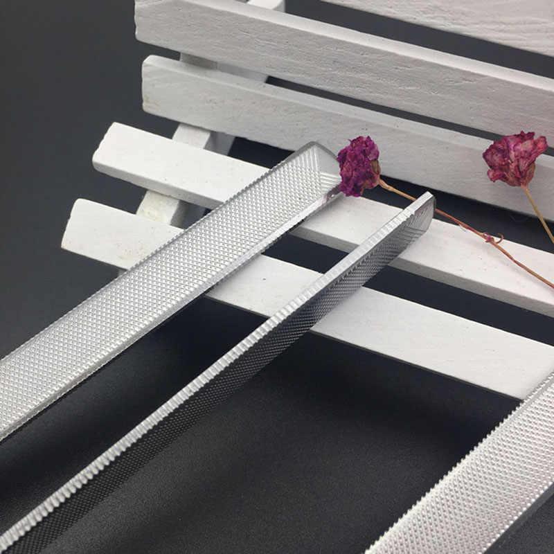 Kuku File Set Stainless Steel Round Kepala Profesional Logam Alat Manicure Pedicure Wanita Kuku Kecantikan Mati Keras Kepala Kulit
