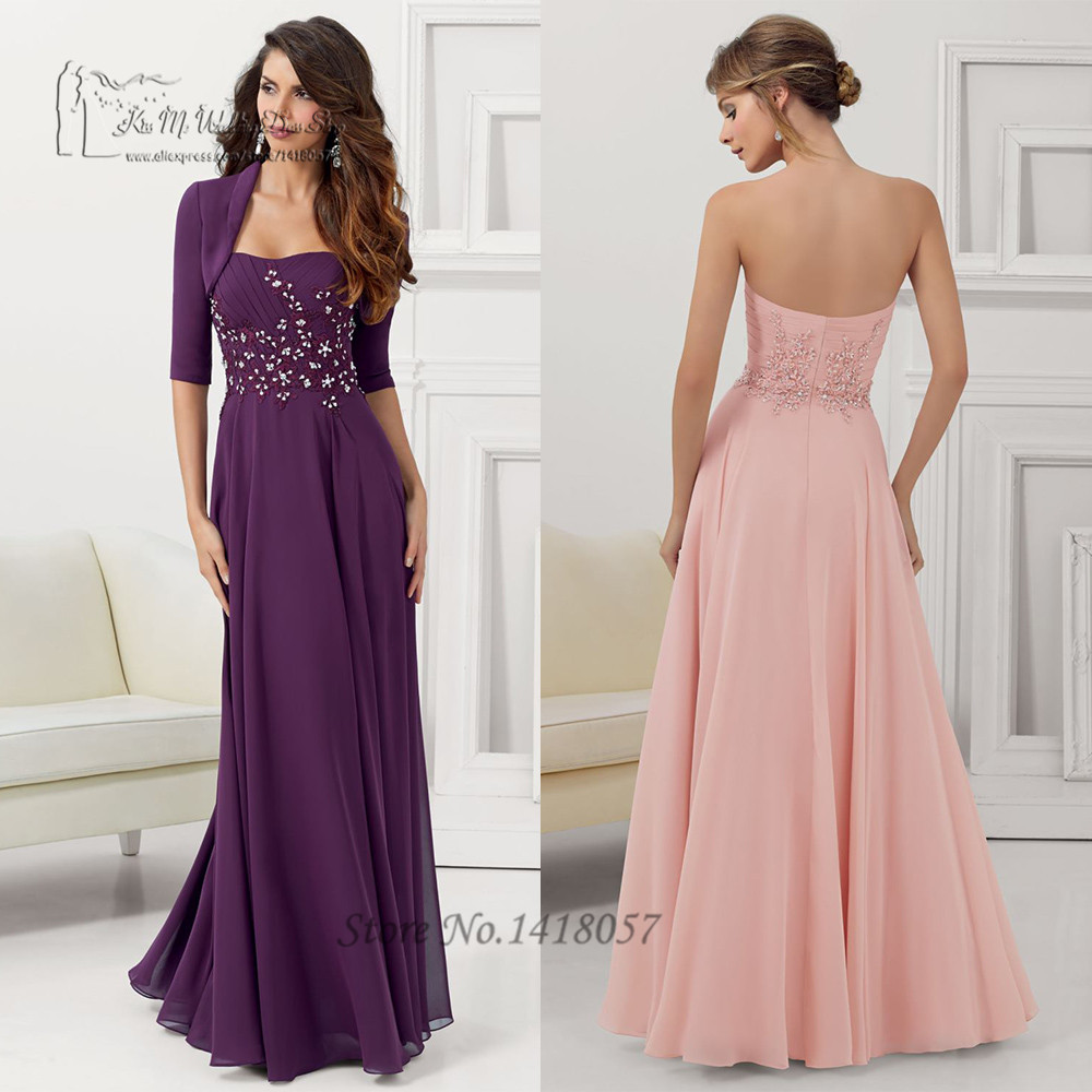 Wedding Decoration Purple Long Dress For Wedding online buy wholesale beach wedding gowns in purple from china blush pant suits for guest long lace mother of the bride dresses with jacket