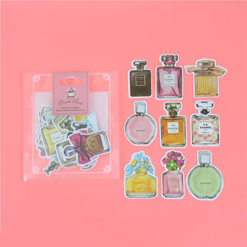 1 пакет, милые Мультяшные декоративные наклейки в Корейском стиле, клейкие наклейки, скрапбукинг, сделай сам, декоративные наклейки для дневника - Цвет: Q