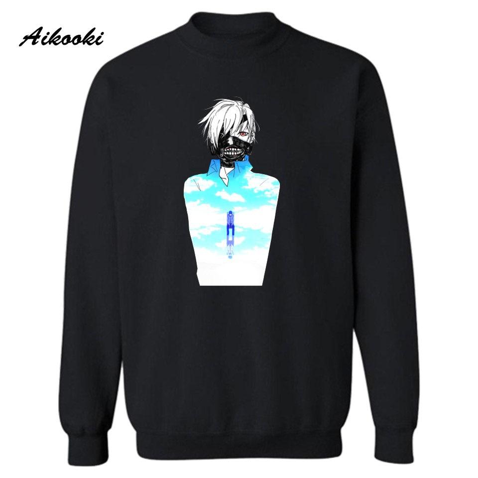 Aikooki TOKYO GHOUL Harajuku Sweatshirt Men Hip Hop Plus Funny Cartoon Luxury Leisure Men Tracksuits Hoodies Fashion Women Coats