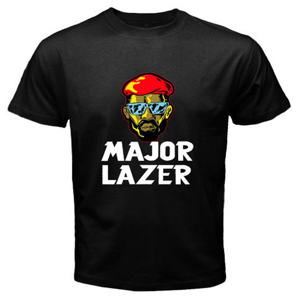 Gildan Major Lazer Electronic Music Band Mens Black T-Shirt Size S M L XL 2XL 3XL