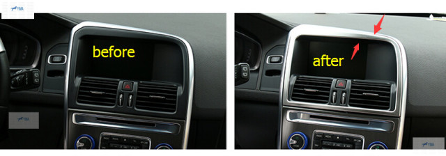 navigation decorative volvo item control frame pcs for steel panel cover interior stainless