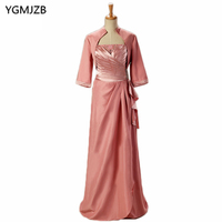 Plus Size Mother Of The Bride Dresses With Jacket 2018 A Line Floor Length Beaded Wedding Party Dress For Wedding Mother Dresses