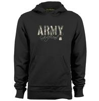Army Girlfriend Camo With Dog Mens Womens Trendy Hoodies Sweatshirts