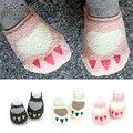 Новый 0-2 лет детские носки толстые махровые носки Осенью и зима мультфильм лапу носки для детей дети ребенок анти скольжения носки