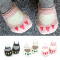 Novelty 0-2 year old baby socks thick terry socks Autumn and winter cartoon paw socks for children kids baby anti slip socks