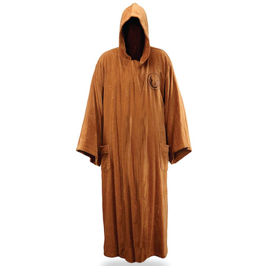 Costumes, Reenactment, Theater Star Wars Jedi Knight Bath Robe For Man Black