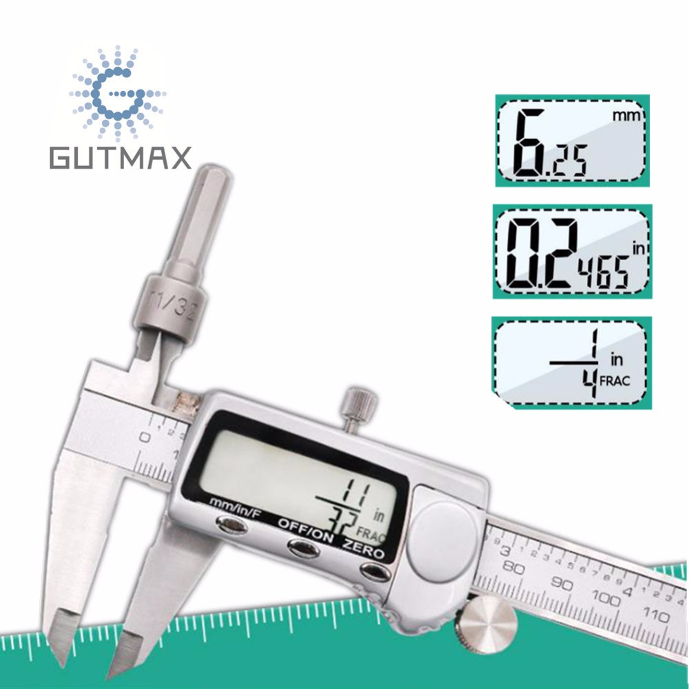 0-150mm Vernier Caliper Mm /in/F Three-function Digital Caliper Measurement & Analysis Instruments High Quality Measuring Tool