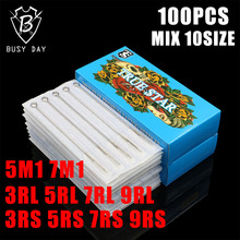 Disposable Mixed Tattoo Needles Set – 100pcs Disposable & Sterilized Mixed Round & Magnums Liners And Shaders For Tattoo Machine