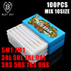 100PCS Mixed Assorted Sterilized Disposable Tattoo Needles 3RL 5RL 7RL 9RL 3RS 5RS 7RS 9RS 5M1
