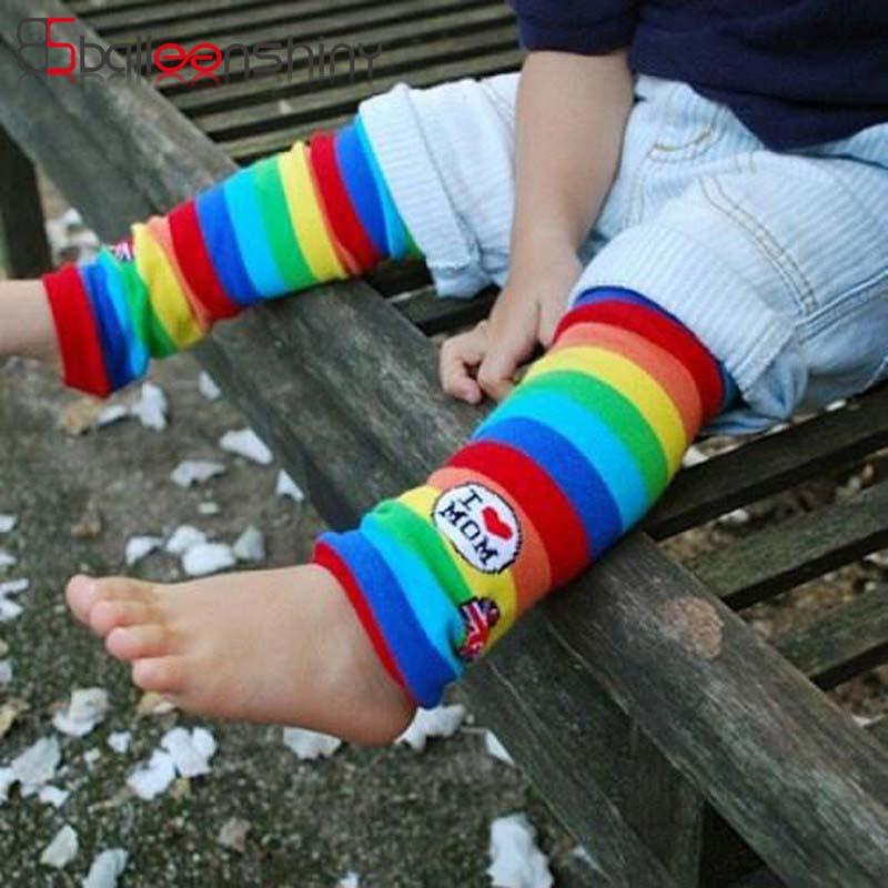 Balleenshiny младенческой полосатый рисунок Детские гольфы я люблю маму Хлопок Мягкие малышей для 1-4 года Обувь для девочек Обувь для мальчиков Д...
