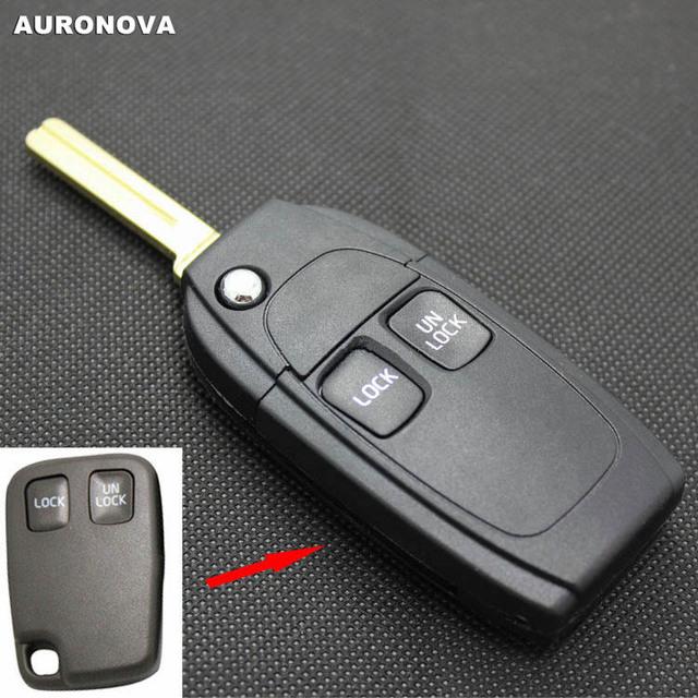 AURONOVA nowa aktualizacja składane klucze dla Volvo Xc90 S80 V40 S40 S60 2 przyciski zaktualizowane obudowa pilota z klucz samochodowym tanie i dobre opinie China Car Key ABS Plastic Copper Blade
