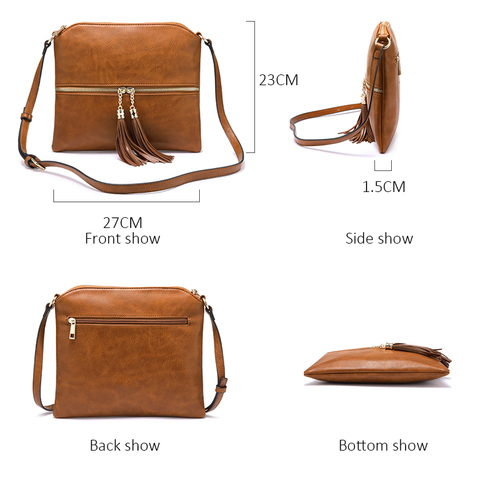 REALER women shoulder bags artificial leather messenger bags for ladies with tassel high quality crossbody bag female fashion Islamabad