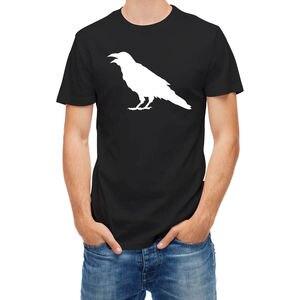 Футболка с рисунком ворона, короткий рукав, 100% хлопок, мужские футболки 2018, новая мода, мужские футболки с коротким рукавом, модные футболки