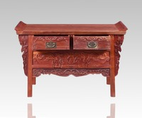 Rosewood Living Room Down Cabinets Chinese Classical Lockers Solid Wood TV Table 2 Drawer Lockers Redwood